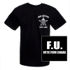 Men's Black F.U. Skull T-shirt