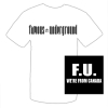 Men's White F.U. Logo T-shirt